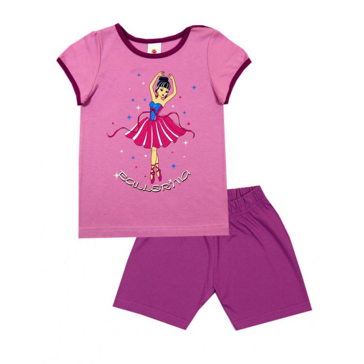 Пижама летняя с шортами и короткими рукавами