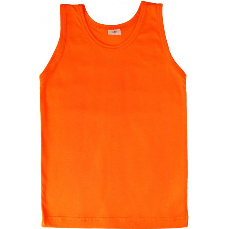 Футболка-майка оранжевого цвета