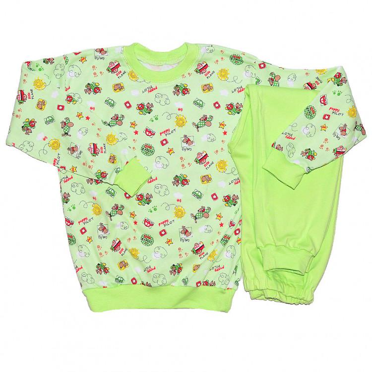 Пижама зеленая с длинными рукавами