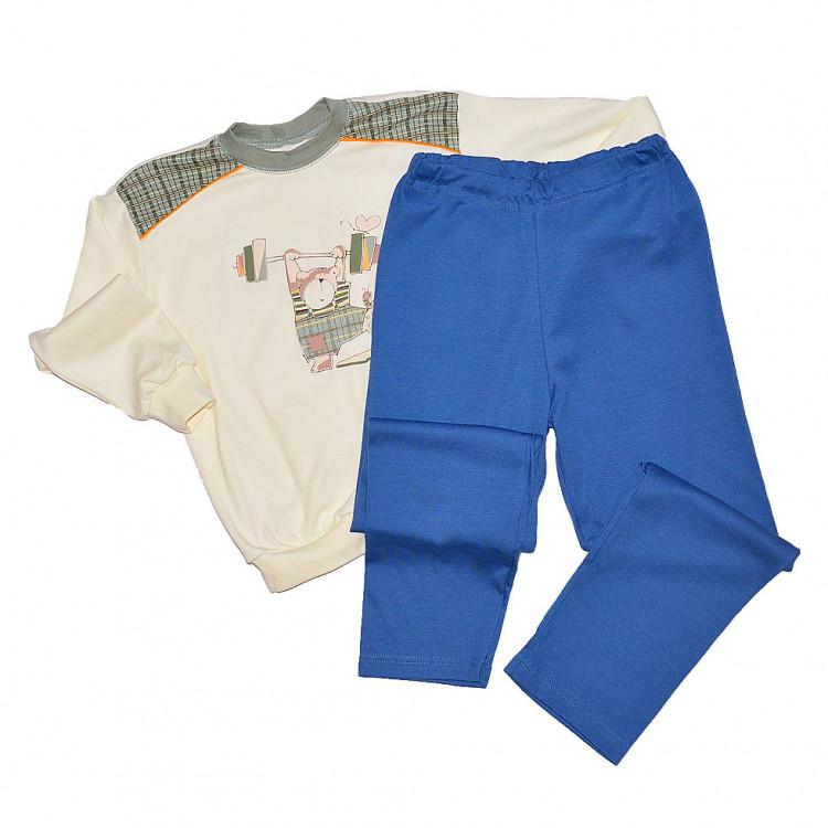 Для мальчика пижама с синими штанами