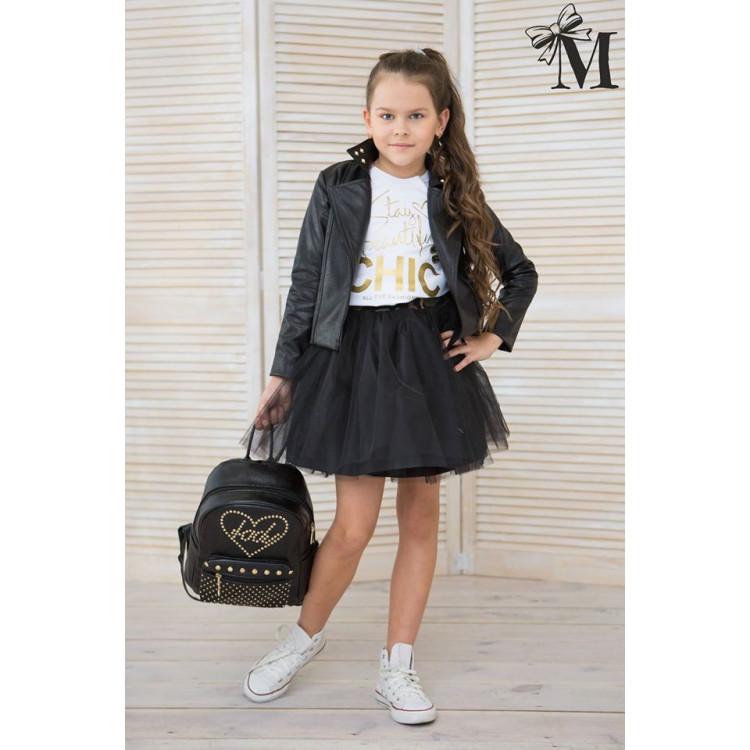 Куртка для девочки Krees, черная