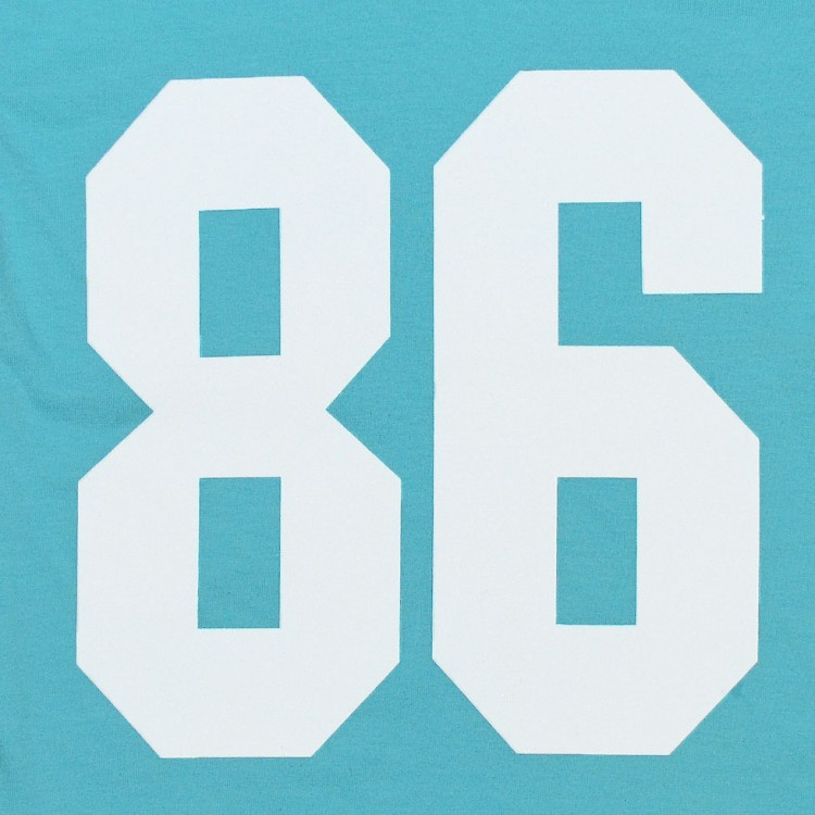 Футболка детская морского цвета с цифрой