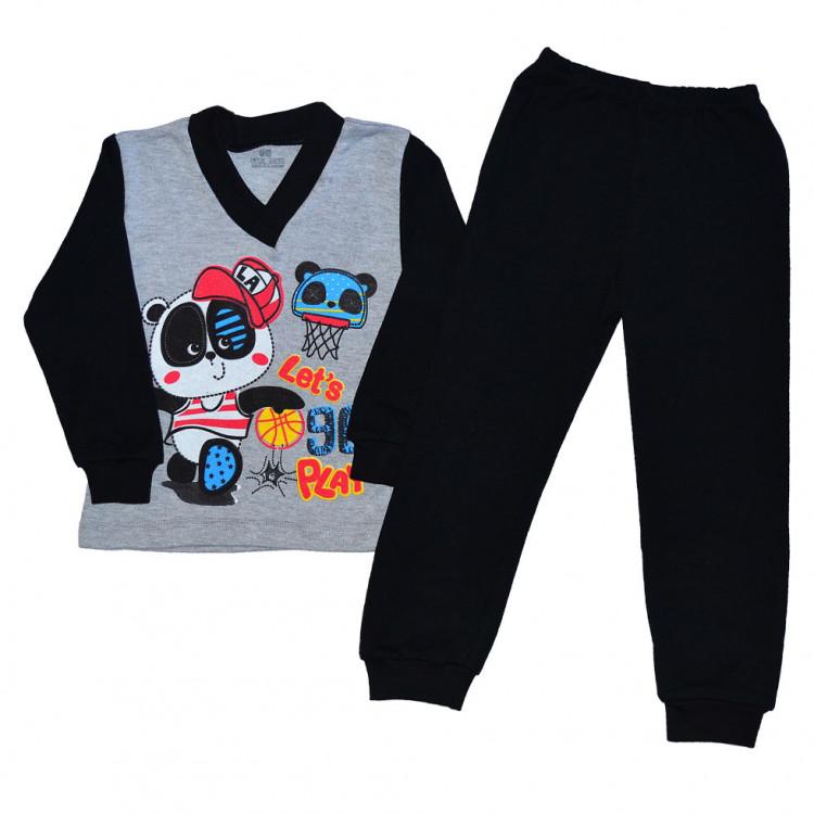 Пижама подростковая с длинными рукавами