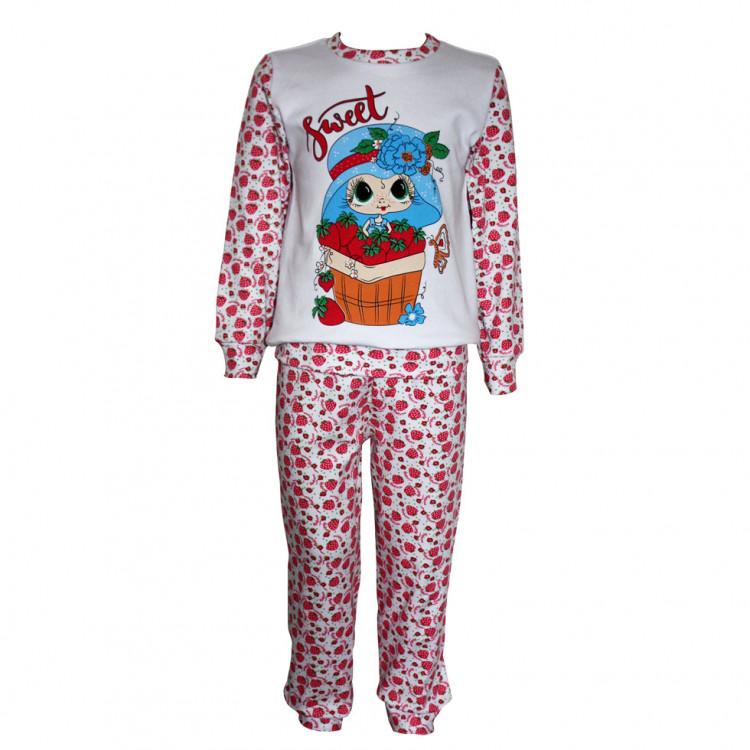 Детская пижама с клубничками
