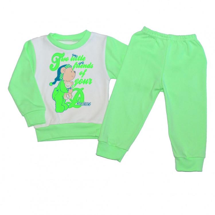 Пижама зеленая с мишкой
