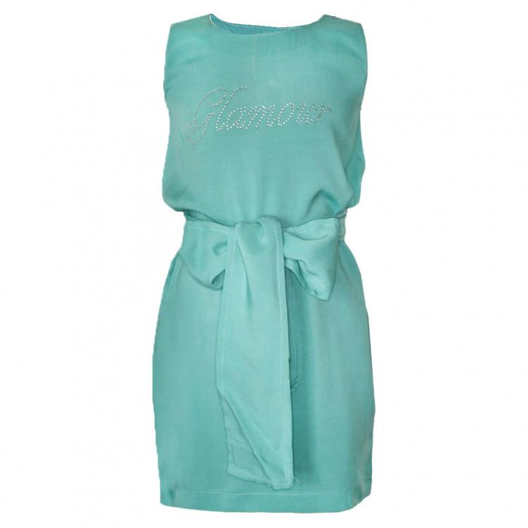 Легкое платье мятного цвета
