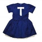 Платье жаккардовое синего цвета