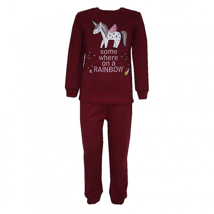Пижама бордовая с аппликацией