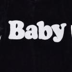 Велюровый черный комбинезон для малыша