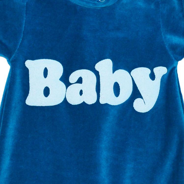 Велюровый комбинезон для новорожденного