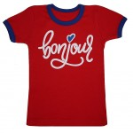 Футболка красного цвета Bonjour
