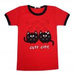 Футболка с изображением Cute Cats