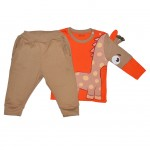 Комплект детский с объемным рисунком, жираф