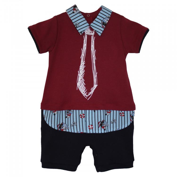 Костюм-боди бордового цвета для мальчика