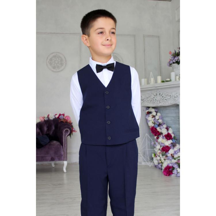 Однотонный синий костюм подростковый
