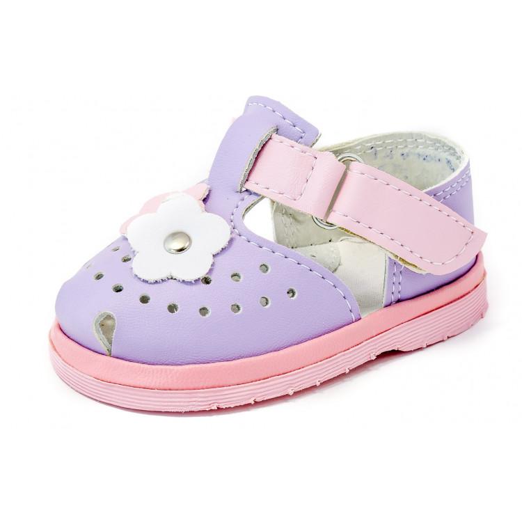 Фиолетовые сандалии для девочки