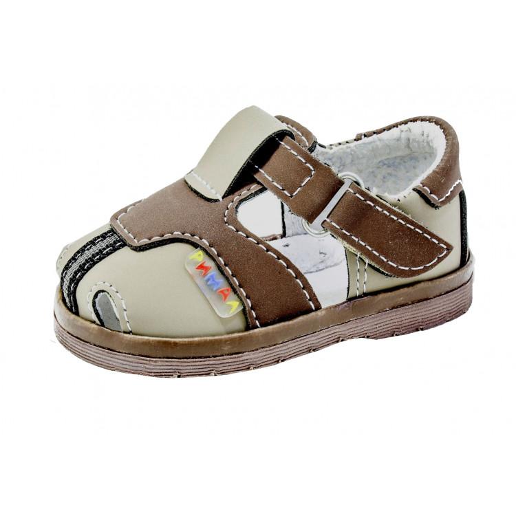 Ясельные сандалии коричневые для мальчика