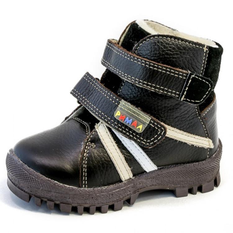 Для мальчика ботинки из натуральной кожи, Коричневый