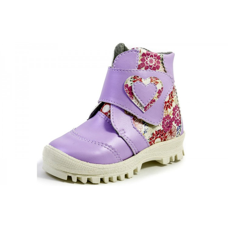 Ботинки для девочки сиреневые, Римал