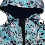 Куртка зимняя бирюзового цвета с цветами