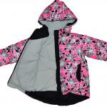 Демисезонная куртка розового цвета с цветами