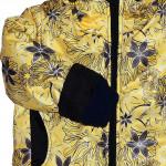 Куртка зимняя желтого цвета с цветами