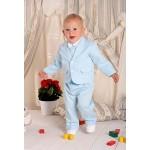 Классический голубой костюм для мальчика