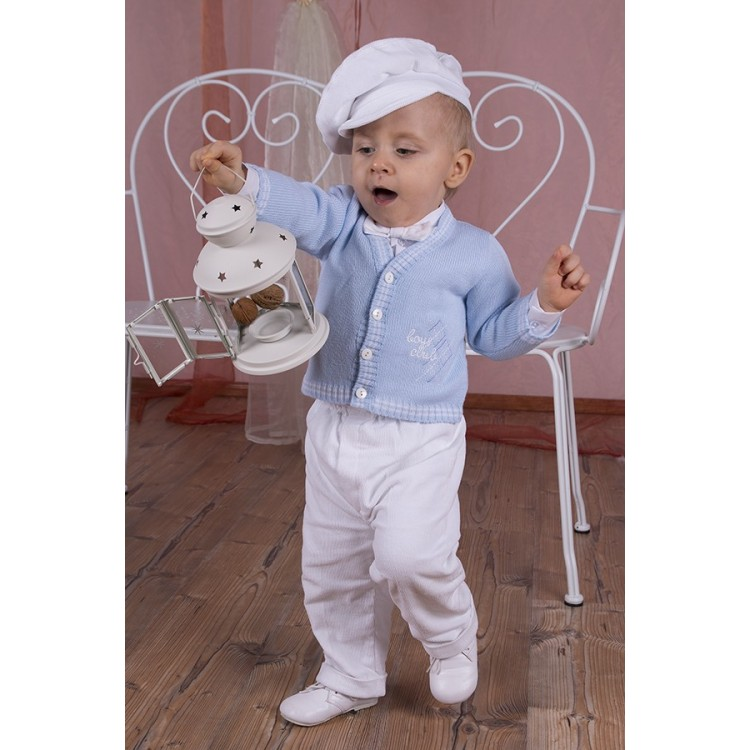 "Прогулочный костюм для мальчика ""Boys Club"", голубой"