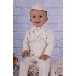 "Белый костюм ""Джентльмен"" с ярким галстуком"