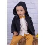 Хлопковая куртка темно-синего цвета