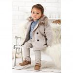 Пальто для мальчика в комплекте с брюками