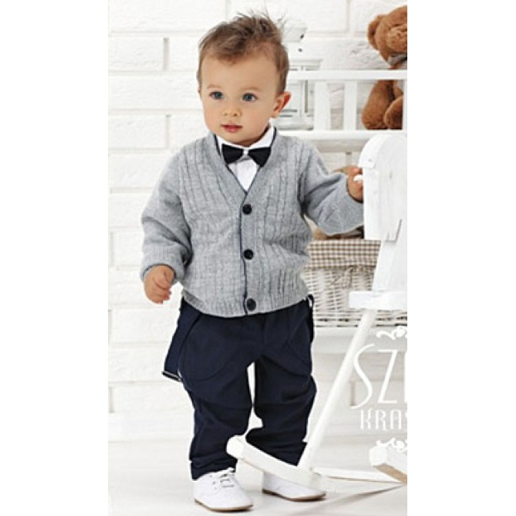 """Облегченный комплект для мальчика """"Boy"""", черные штаны"""