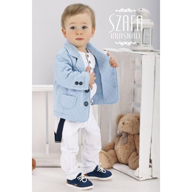 "Яркий костюм ""BlueBoy"", белые штаны"