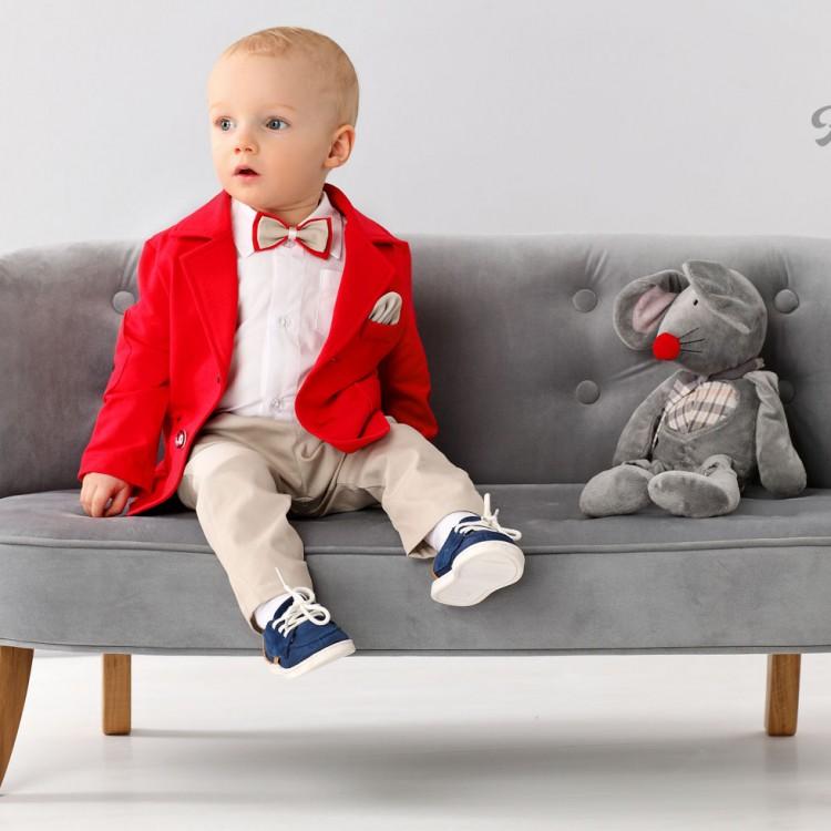 Красный пиджак, брюки, рубашка комплект