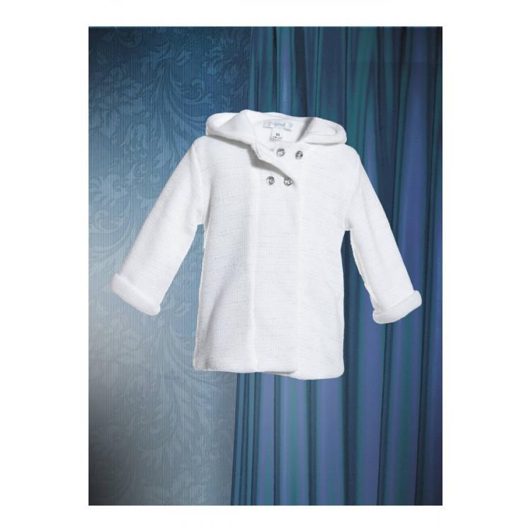 Трикотажное пальто, белое