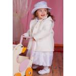 Пальто для девочки белое