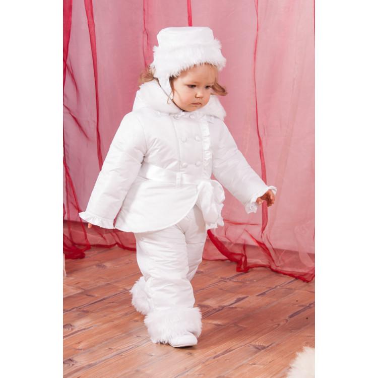 Белый утепленный комплект для девочки