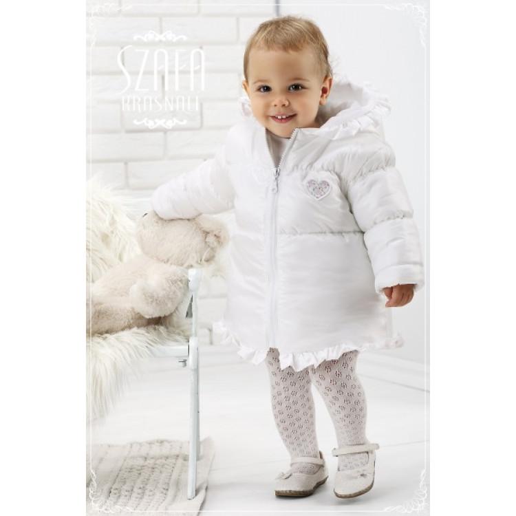 Стеганная белая куртка для девочки
