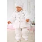 Утепленный белый зимний костюм для девочки