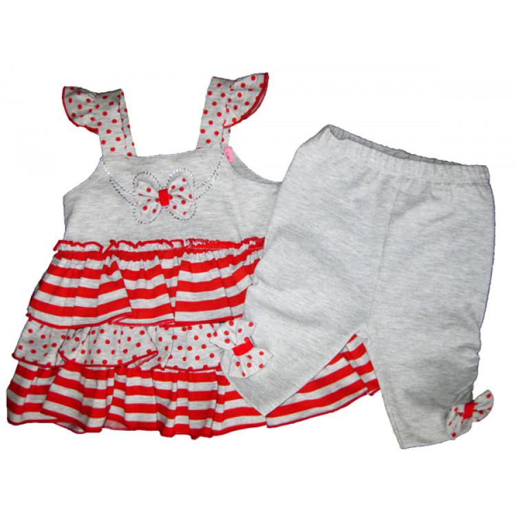 "Летний костюм для девочки ""Narli Bebe"", красный"